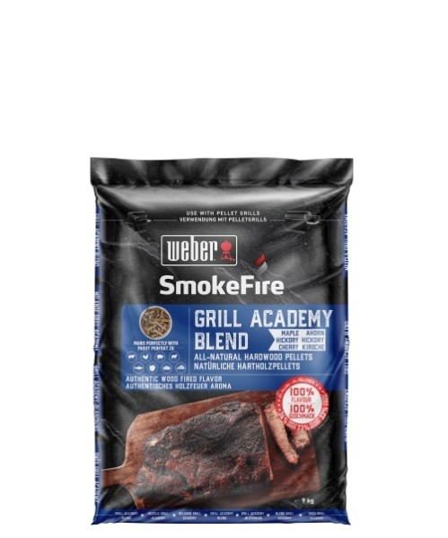 Weber SmokeFire 100% nat. Holzpellets Grill Academy 9kg Blend 190101