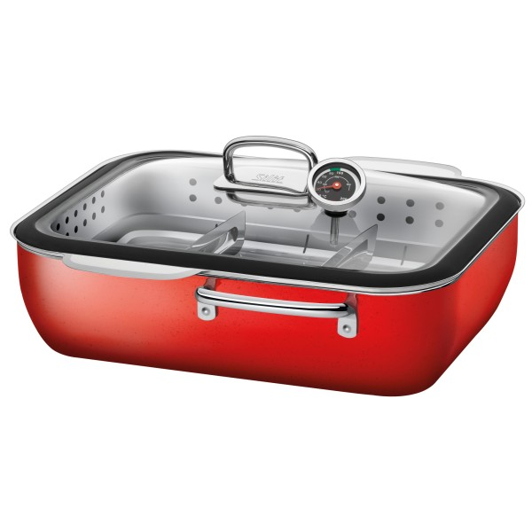 Silit 2136284772 Dampfgarer m.D.34cm ecompact E.Red