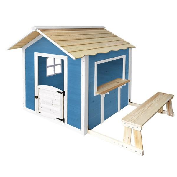Home Deluxe Spielhaus - Der grosse Palast / Blau mit Bank