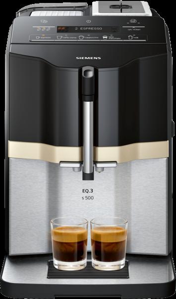 Siemens TI305506DE Kaffeevollautomat Klavierlack-Schwarz EQ.3 s500