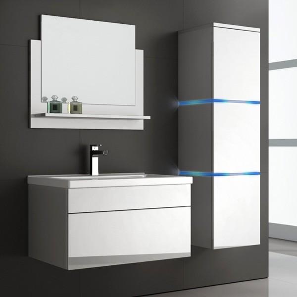 Home Deluxe Badmoebel Wangerooge L - Weiß (HB)