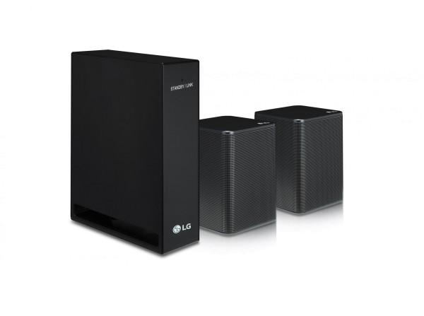 LG SPK8 Rücklautsprecher Set 2.0 (140W für SK10Y und SK9Y) Schwarz