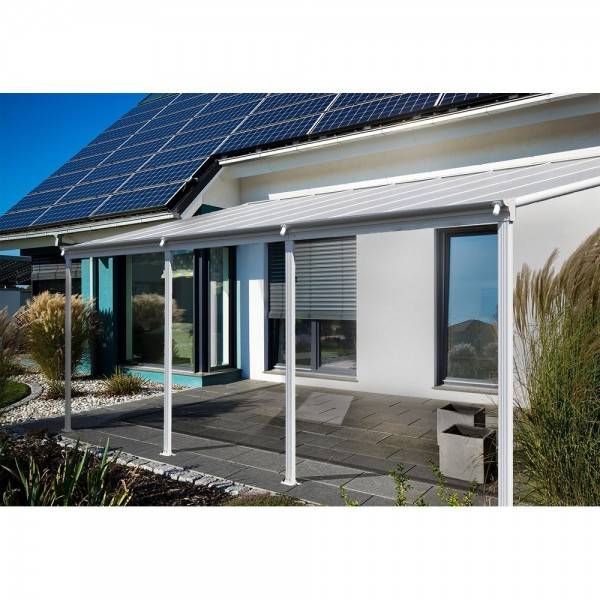 Home Deluxe Terrassenueberdachung 495 x 303 x 226 / 278 cm Grau